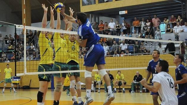 České národní volejbalové mužstvo porazilo celek Austrálie.