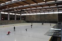 Zimní stadion v Litomyšli.
