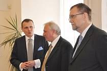 Ministr dopravy Vít Bárta se setkal se starosty ve Vysokém Mýtě.