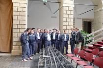 Školení jednotky a prohlídka zámku v Litomyšli - příprava na asistenční hlídky.