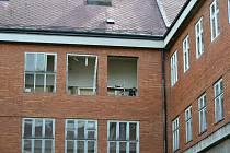 Oprava Masarykovy základní školy v Poličce.