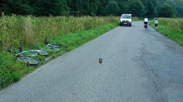 Nehoda u obce Banín.