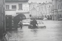 Povodeň 17. května 1984 v Litomyšli.