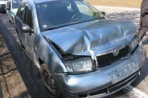 Nehoda na frekventované silnici u obce Gruna.