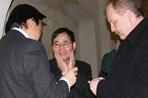 Starosta Litomyšle Michal Kortyš a pan Aldo z Japonska.