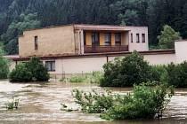 Povodně v Březové nad Svitavou před deseti lety.