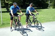 Strážníci svitavské policie vyjedou na hlídku na bicyklech.