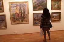 """Výstava s názvem """"Jan  Šplíchal – Křehká krása krajiny""""."""