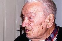 Jaromír Svojanovský, nejstarší občan Březové nad Svitavou.