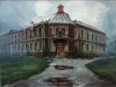 BEZ NÁZVU. Olejomalba, která zachycuje budovu bývalé dětské nemocnice krátce po zahájení demolice, představuje už dnes historický dokument. K vidění je do konce letošního roku v prvním patře moravskotřebovského muzea. Autorem obrazu je Martin Kovářík.