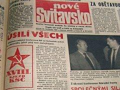 Noviny z 22. listopadu 1989.