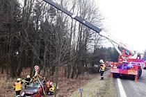 Silnici I/43 u Březové zablokovala nehoda