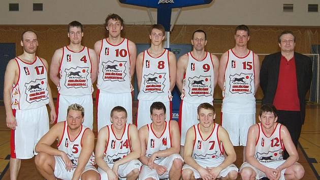 Basketbalové mužstvo Svitav.