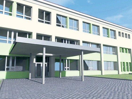 Po opravách škola dostane novou vizáž. Architektonické řešení navrhl Ivo Junek a Jiří Janda.
