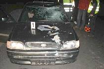Fotografie z místa nehody.