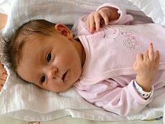EMMA BAJEROVÁ. Narodila se 3. srpna Ditě Hejlové a Jaroslavovi Bajerovi ze Svitav. Měřila 50 centimetrů a vážila 3 kilogramy.