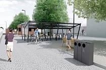 Vizualizace budoucí podoby svitavského vlakového přednádraží.