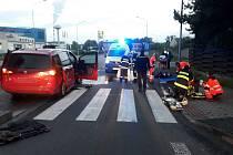 V neděli se při nehodách zranilo sedm lidí
