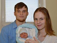 TOBIÁŠ TESAŘ. Narodil se 24. února Adéle Tesařové a Radimu Petrželovi ze Svitav. Měřil 48 centimetrů a vážil 2,96 kilogramu.