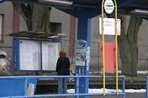 Současný stav autobusového nádraží v Poličce.