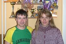"""Úspěšný svitavský """"in–line pár"""" rozšířil v uplynulé sezoně velmi výrazně svoji sbírku trofejí z nejrůznějších závodů."""