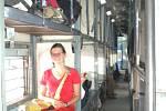 POHODA ve vlaku na Goa. Vnitřek spacího vozu.