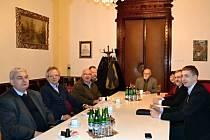 Hosté z vyšší odborné školy z polského Lešna se sešli s představiteli města a gymnázia.