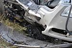 Smrtelná nehoda na silnici I/43 u Opatova.