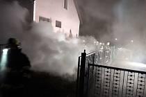 Požár sklepa v Rohozné