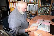 Všechny svoje tipařské úspěchy má Jiří Frank ve svém bohatém archivu pečlivě vystřiženy a zdokumentovány.