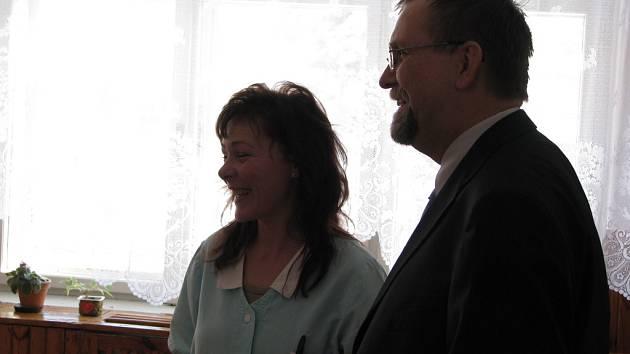 Návštěva hejtmana Radko Martínka v Dětském domově v Poličce.
