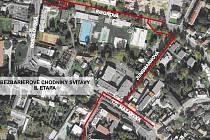 Svitavy bez bariér. Druhá etapa oprav se bude týkat v nepřerušené trase ulic T. G. Masaryka, Jungmannova, Riegrova a části ulice Richarda Kloudy.