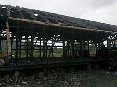 Shořelá budova v Moravské Třebové.