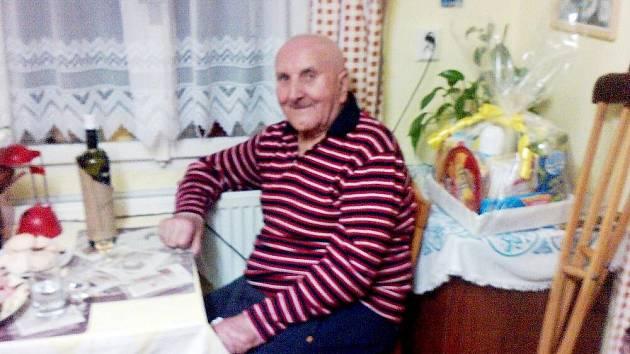 Václav Gloser, nejstarší občan Banína.
