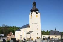 Kostel sv. Jakuba a sv. Filomény v Koclířově.