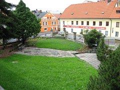 Zahrada Domova důchodců Na Skalce v Litomyšli.