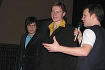 Student Marek Partyš (na snímku s mikrofonem).