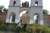 Vicehejtman Roman Línek při návštěvě poutní mše v Jaroměřicích