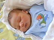 JAN KINCL. Narodil se 23. května Haně a Janovi ze Svitav. Měřil 52 centimetrů a vážil 3,85 kilogramu.