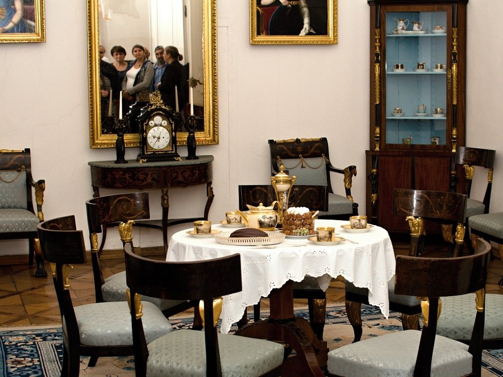 Gastronomické prohlídky na zámku v Litomyšli.