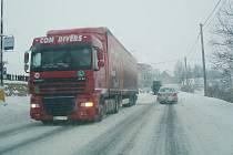 Zima ve Svitavách.