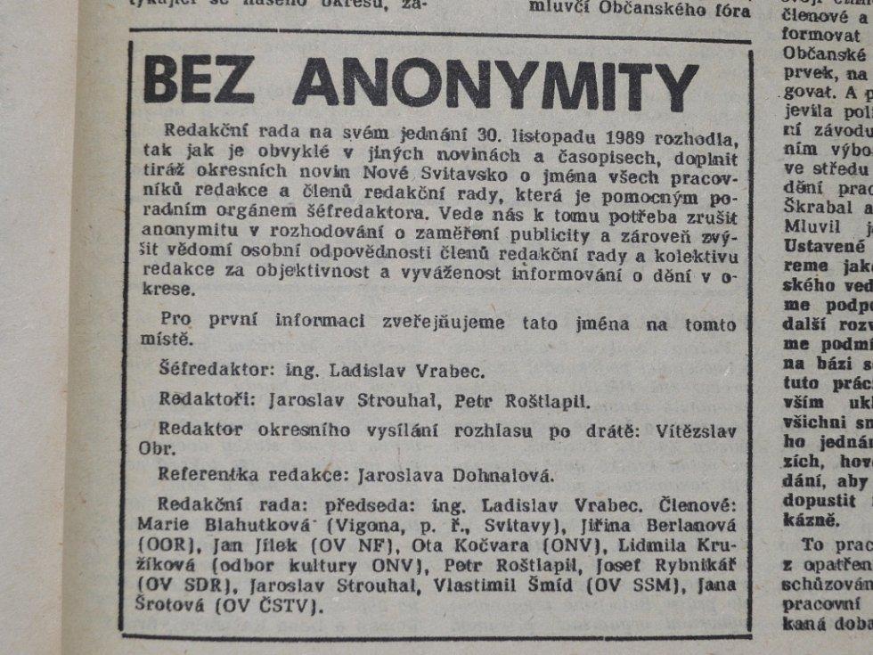 Z Nového Svitavska 6.12.1989.