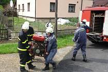 Trénik hasičů z Janova