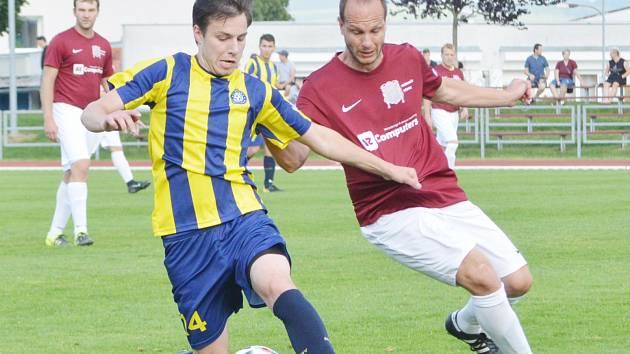 Velmi těžko se svitavští fotbalisté prosazovali proti dobře organizované defenzivě Heřmanova Městce.