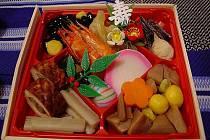 Tradiční japonské novoroční jídlo Osechi.