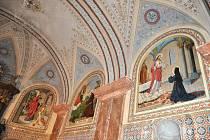 Unikátní nástěnné malby zdobí ambit  františkánského kláštera v Moravské  Třebové.