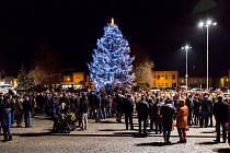 Rozsvěcení vánočního stromečku v Jevíčku