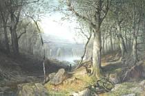 I tento obraz  uvidí lidé na výstavě v Litomyšli.  Jde o olej  Průhled bukovým lesem, 1858–1859.