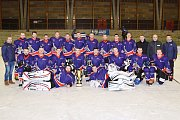 Utkání hvězd krajských hokejových lig v Litomyšli.
