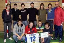 Penaltový rozstřel určitl, že se do listiny vítězů Jaroměřické fotbalové zimy zapsal dorost Nemilan (na snímku).
